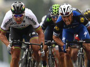 Sagan, Alaphilippe y Valverde © Sky