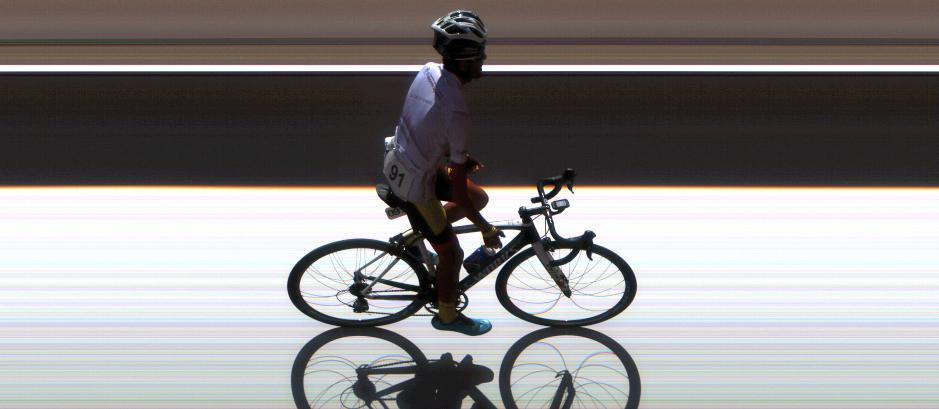 Trujillo, en la foto finish de la última etapa © Edosof Timing