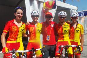 Tras la carrera, con González Arrieta © RFEC
