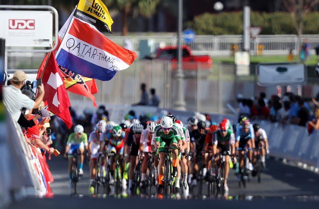 Banderas en la meta