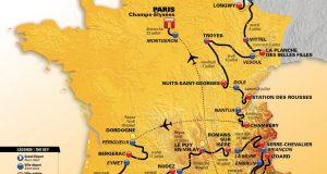 Mapa del 104º Tour © ASO