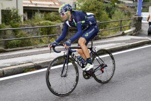 Valverde en carrera © Movistar