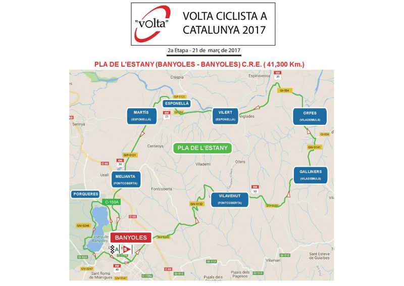 Mapa de la etapa © Volta