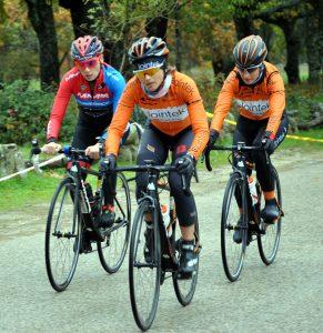 El trío que subió al podio: Santanyes, López y Ramírez