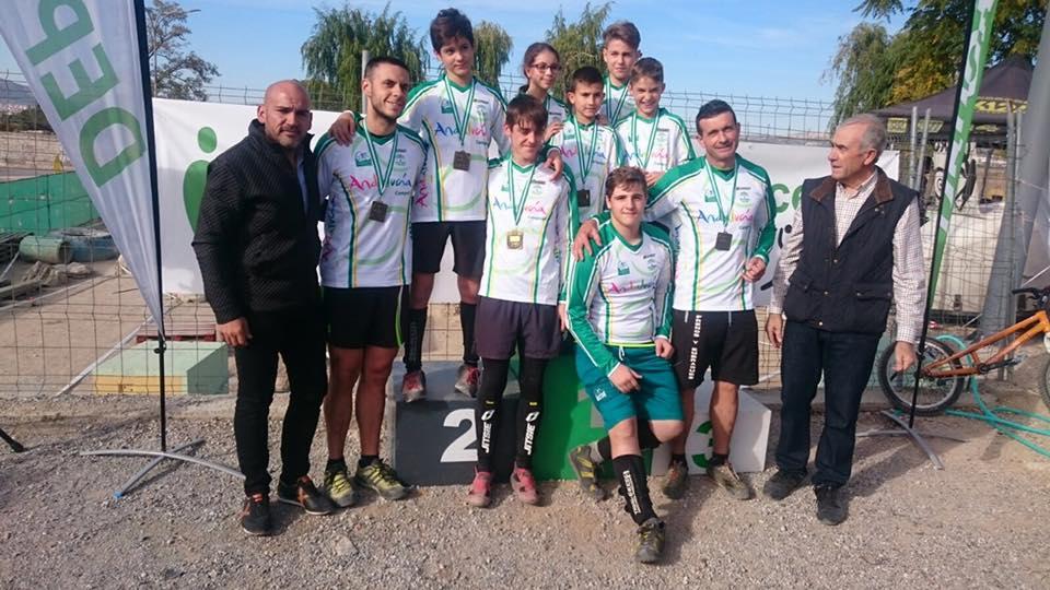 Campeones de Andalucía de Trialbici 2016 © FAC