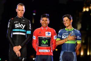 Chris Froome_Nairo Quintana_Esteban Chaves_Vuelta España_2016