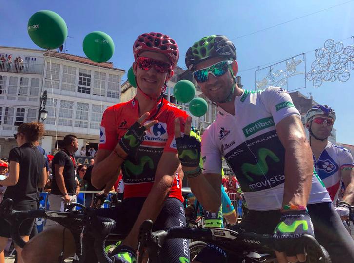 Ruben Fernandez_Alejandro Valverde_Vuelta Espana_2016
